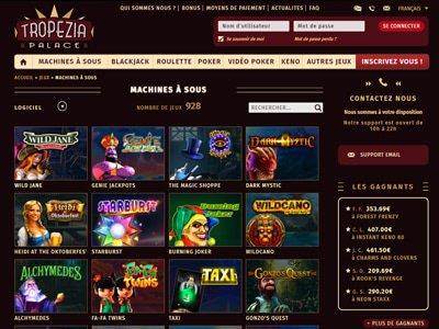 Jeux sur le casino Tropezia Palace